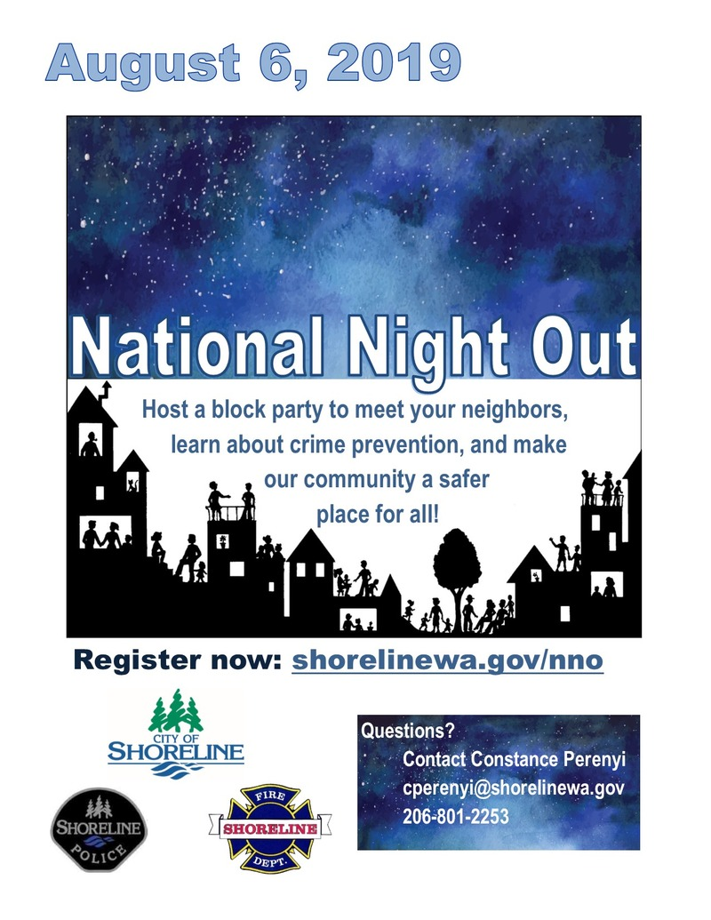 Shoreline National Night Out flyer