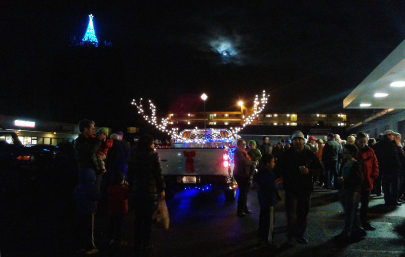Folks at the North City Tree Lighting